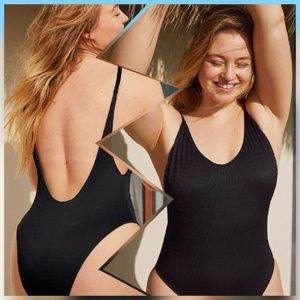 Aerie American Eagle Cheeky One Piece Swim Suit